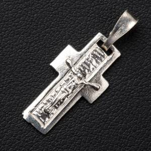 Pendant crucifix in silver, worked on back s2