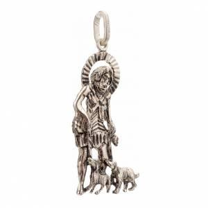 Pendant Saint Lazarus in sterling silver 4,8x2,5cm s2