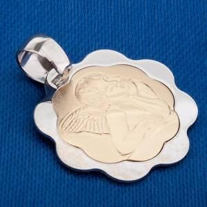 Angelo di Raffaello oro 750/00 bianco e giallo s3