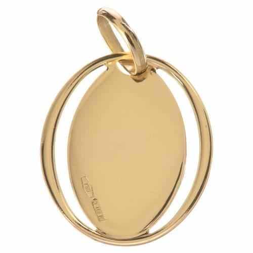 Pendentif ovale ange en prière en or 750/00 - 0,72g s2