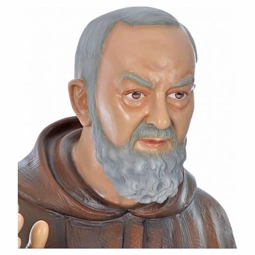 Père Pio en fibre de verre peinte 175 cm s5