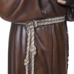 Père Pio marbre reconstitué 110cm peint s6