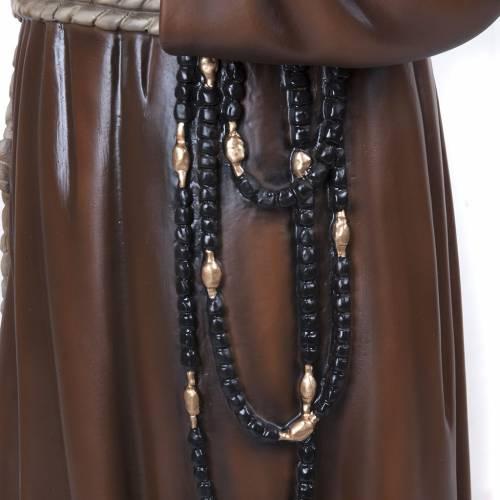 Père Pio marbre reconstitué 110cm peint s4