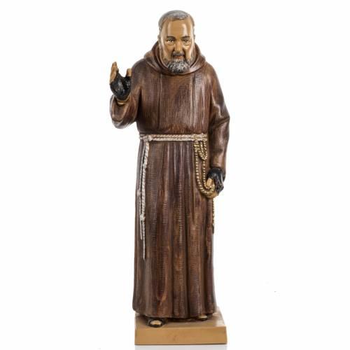 Père Pius 30 cm Fontanini finition bois s1