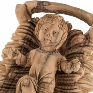 Pesebre completo en madera de olivo Betlemme con cueva 30cm s3