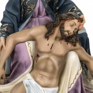 Pietà statue 50cm in wood paste, elegant decoration s2