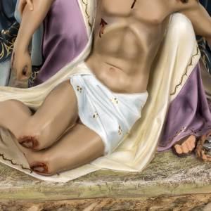 Pietà statue 50cm in wood paste, elegant decoration s3