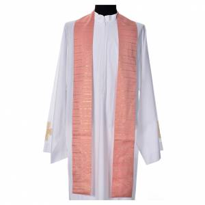 Pink Chasuble in pure Tasmanian wool with double twisted yarn s7