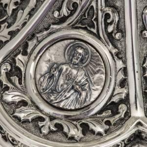 Pisside Molina ottone argentato Maria Gesù Giuseppe s3