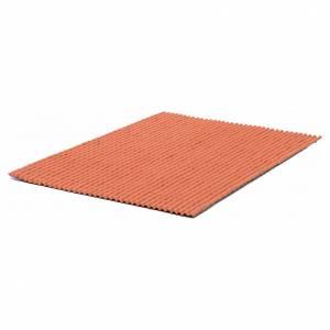 Plaque pour toit en petites tuiles rouges 50x35 cm s2