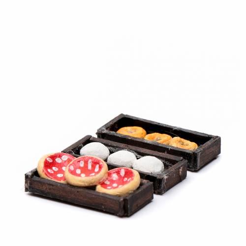 Plateau pizza en miniature crèche Napolitaine 3 pcs s2