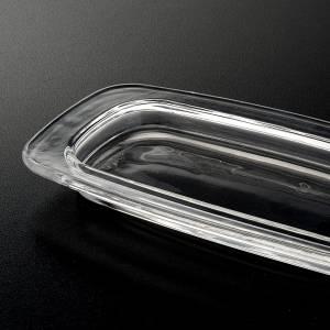 Vinajeras de vidrio: Plato de cristal rectangular 20 x 9,5 cm.