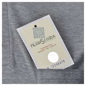 Polo manga corta hilo de escocia gris claro s5