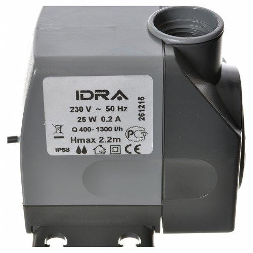 Pompe à eau crèche Idra réglable 400-1300l/h 25W s5