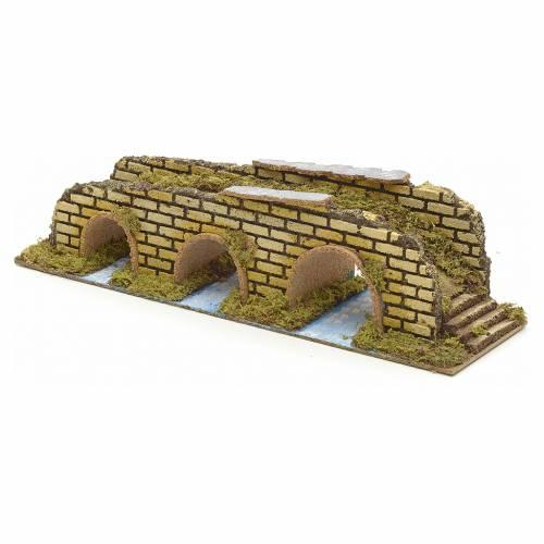 Pont à arches en miniature pour crèche 35x10x8,5 s2