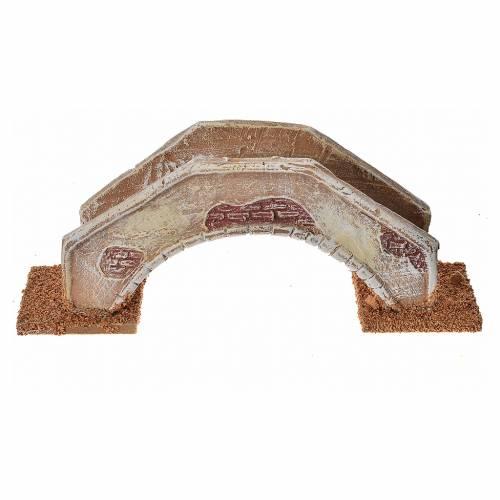 Pont en arc pour crèche 16x4x6 cm  terre cuite s1