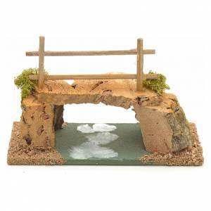 Ponts, ruisseaux, palissades pour crèche: Pont liège pour crèche 8x15x7cm