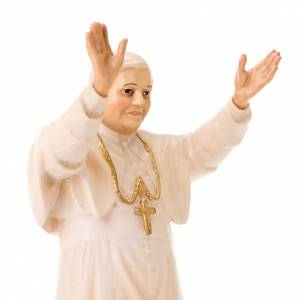 Hand painted wooden statues: Pope Benedict XVI