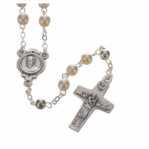 Pope Francis rosary and keyring s2