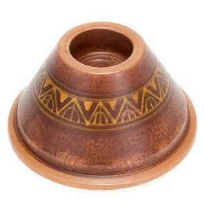 Portacandela tondo ceramica s1