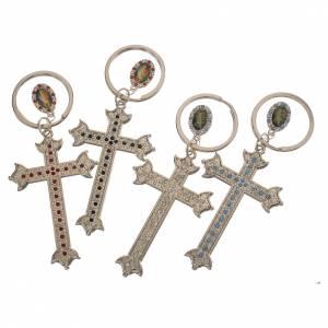 Portachiavi croce metallo e strass s3