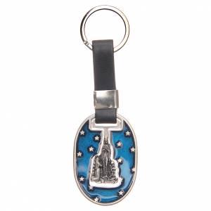 Portachiavi Lourdes galvanica argento antico s1