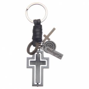 Croci e calamite e oggettistica: Portachiavi metallo Medjugorje