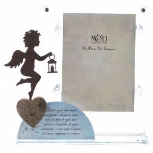 Bomboniere e ricordini: Portafoto Angelo poesia Blu 14,5x15 cm