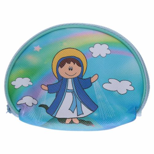 Portarosario borsellino 10x8 cm immagine Madonna Miracolosa s1