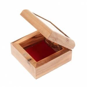 Portarosario scatola olivo Croce s3