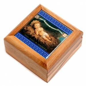 Portarosario scatola olivo Gesù Bambino s1