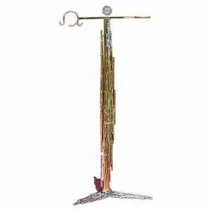 Porte-encensoir 108 cm laiton moulé argent or s1