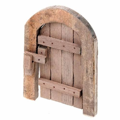 Portone in legno ad arco per presepe fai da te 1
