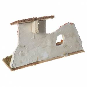 Poulailler en plâtre sur base pour crèche 17x28x10 cm s3