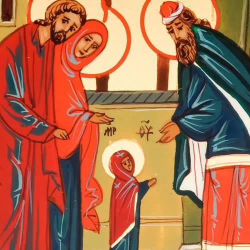 Icona sacra Presentazione Maria al tempio 6x9 Russia s3