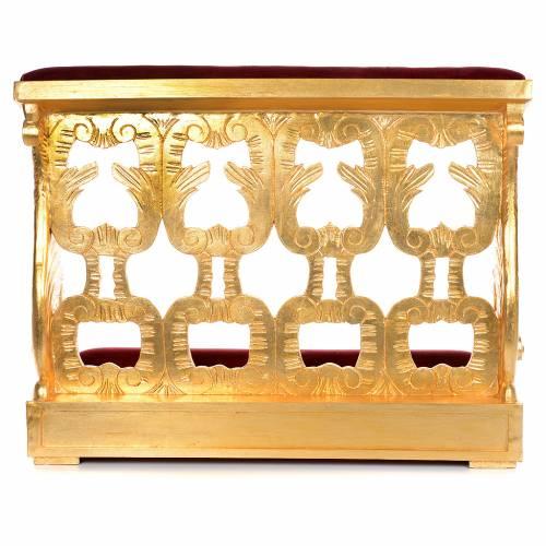 Prie-Dieu bois taillé en feuille d'or inaltérable 2 places s4