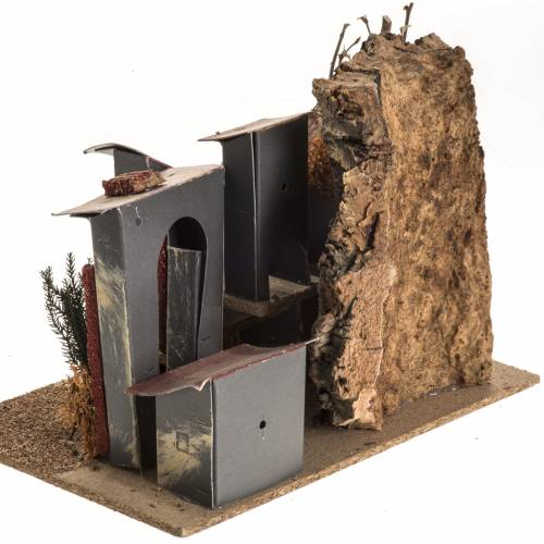 Pueblito con casitas de cartón Pesebre s4