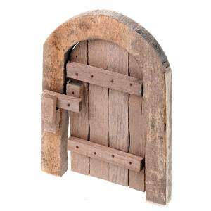 Puerta de madera arco para pesebres artesanales s1