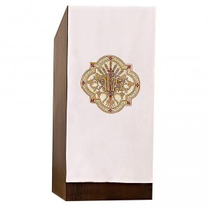Pulpit cover gold and red embroideries s1
