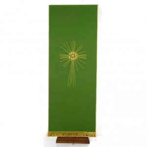 Pulpit cover with embroidered IHS and halo of rays s7