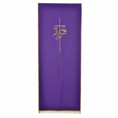 Pulpit cover with IHS and cross, polyester s2