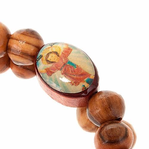 Pulsera elastizada de madera de olivo con imagen s2