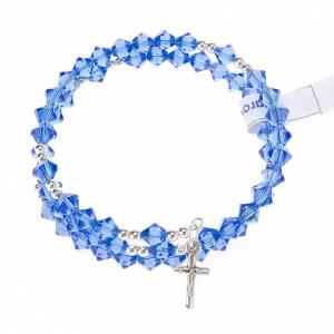 Pulsera rosario Swarovski espiral plata s9
