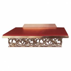 Pupitre d'autel doré avec plan imitation cuir s1