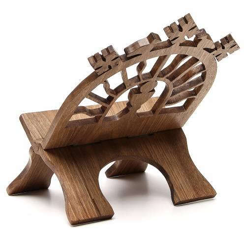 Pupitre table sculpté noyer italien Moines Bethéelem s3