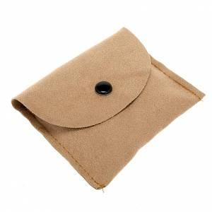 Pyxes and Burses: Pyx burse in beige suede leatherette