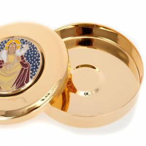Pyx for big hosts with enameled Good Shepherd image s2
