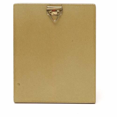 STOCK Quadretto Madonna manto rosso bordo oro 10x6,5 cm s2