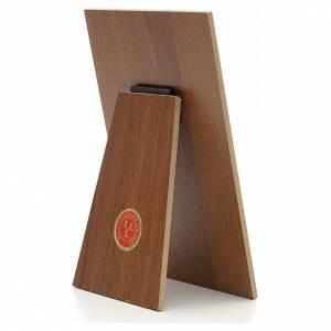 Quadri, stampe, codici miniati: Quadretto Papa Francesco resina su legno Landi