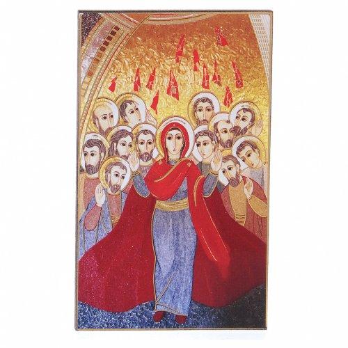 Quadretto stampa mosaico Pentecoste Rupnik 5x10 cm s1